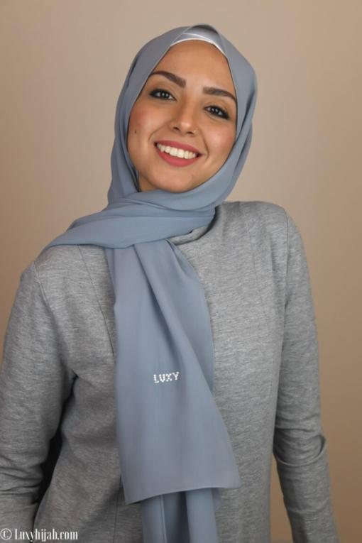 حجاب شيله بالرمادي