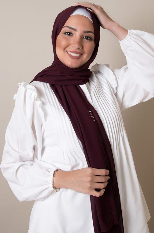chiffon hijab in rasin