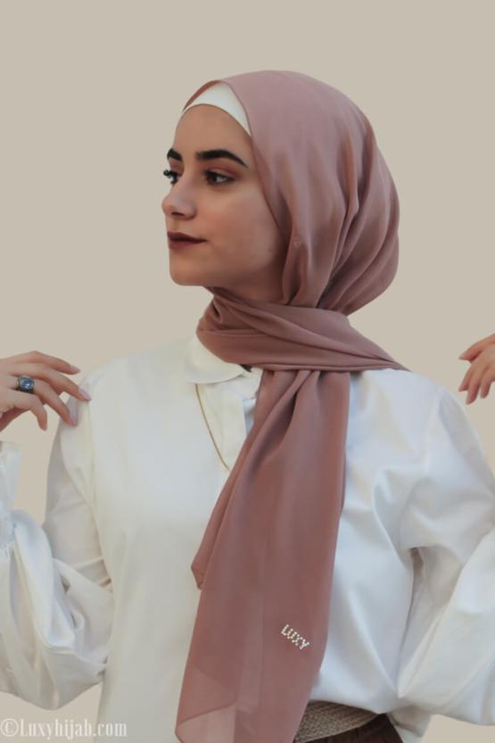 Chiffon Hijab in DESERT ROSE