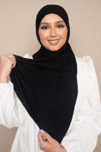 fashion hijab black