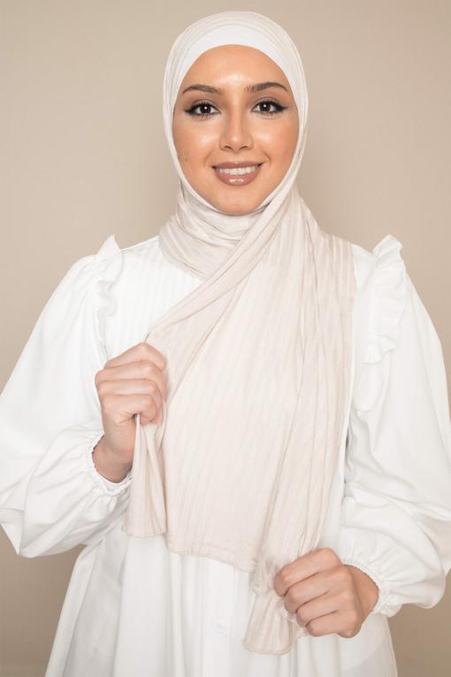 modal jersey hijab in beige