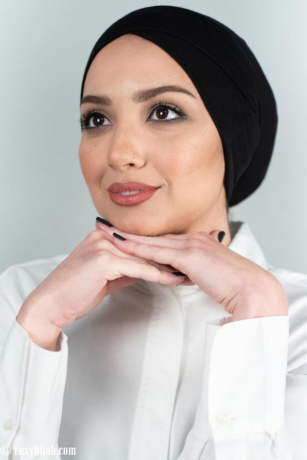 hijab cap black