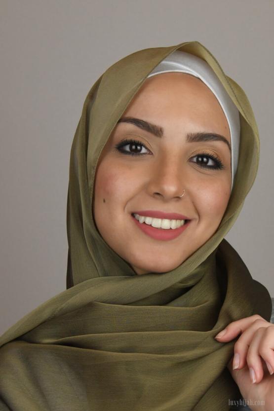 silk hijab style