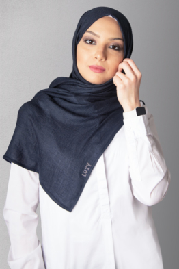 hijab navy blue