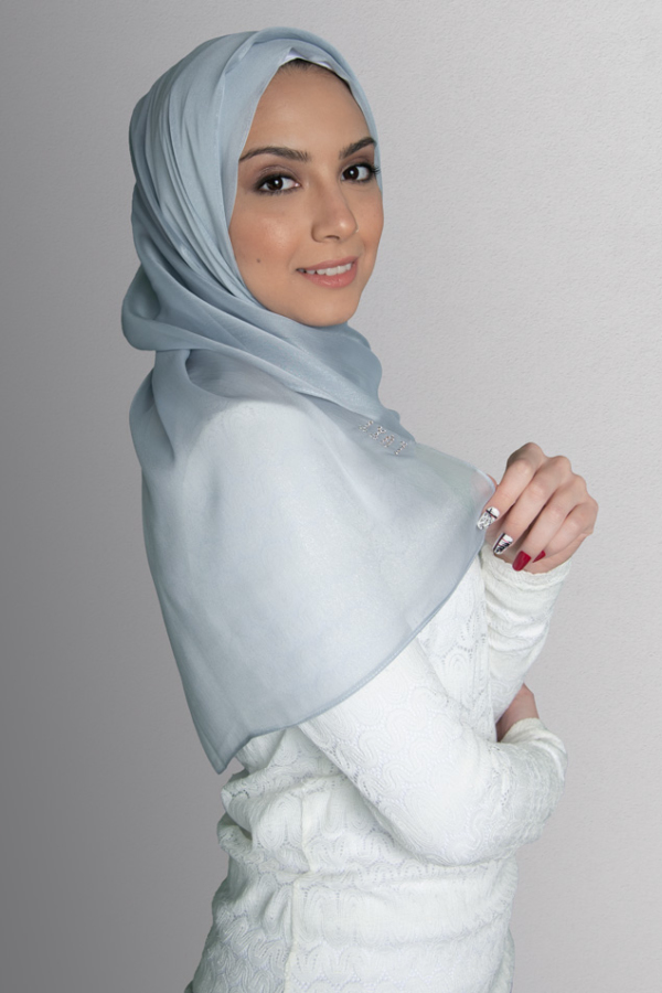 hijab gray
