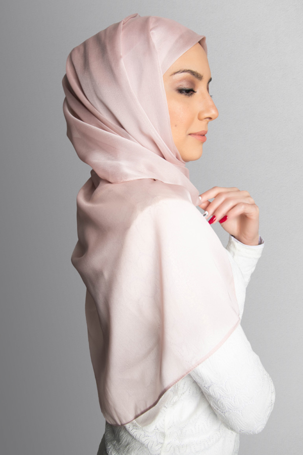 Sparkle Chiffon Hijab in Light Rose