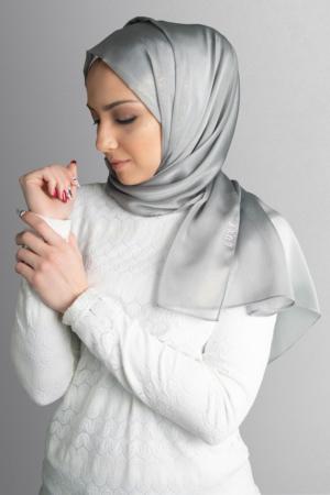 hijab in silver