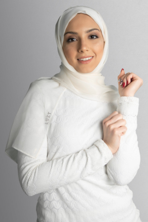 hijab white