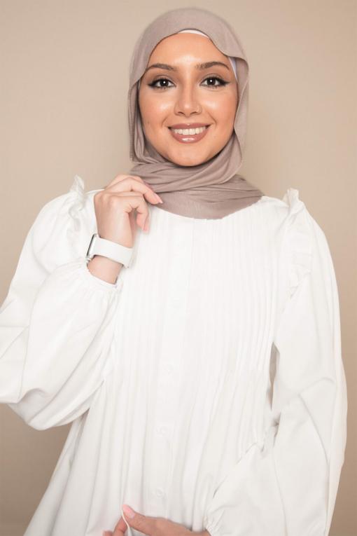 beige jersey scarf