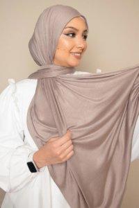 jersey hijab in beige