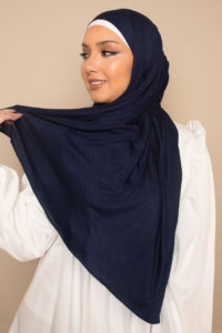 jersey hijab in indigo