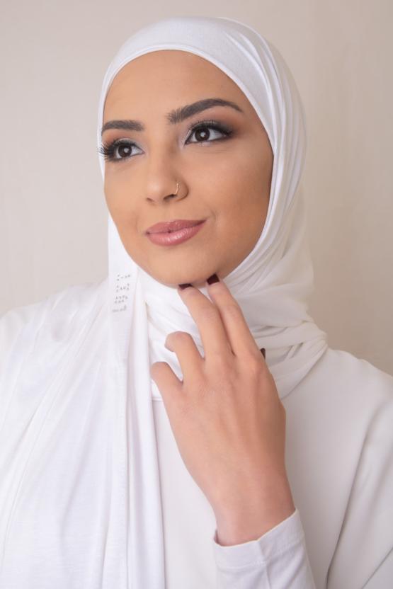 Premium Jersey Hijab in White