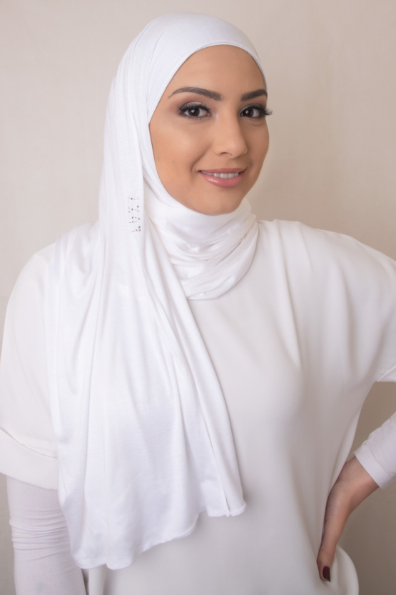 white hijab scarve