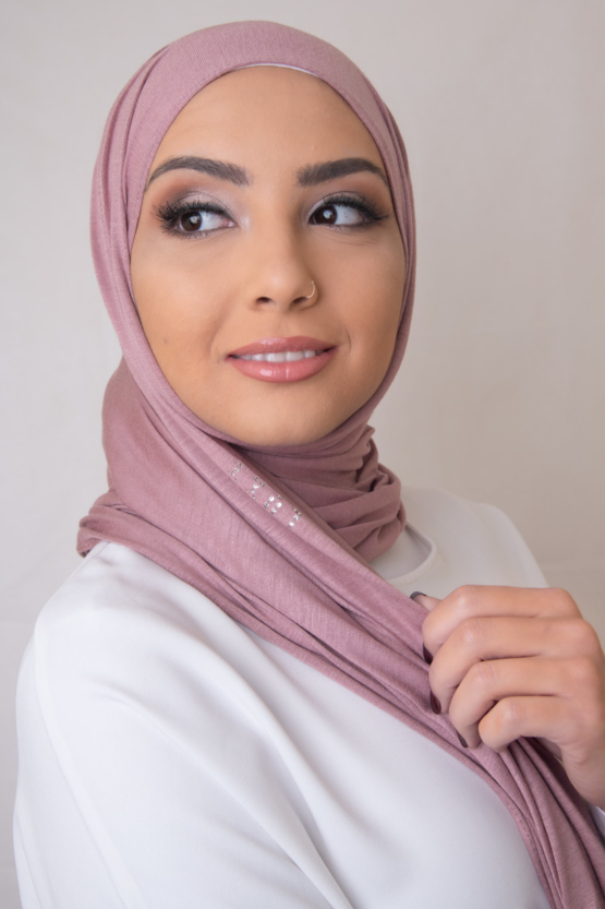 Premium Jersey Hijab in French Rose
