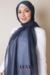 حجاب قطن بلون الدنيم