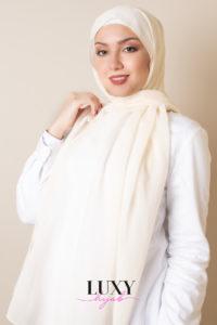 hijab in cream