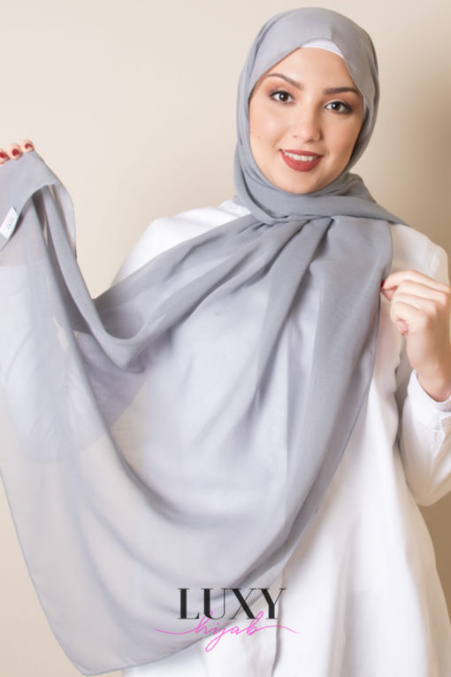 Light Gray Scarf Voile