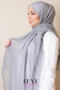 حجاب قطن رمادي