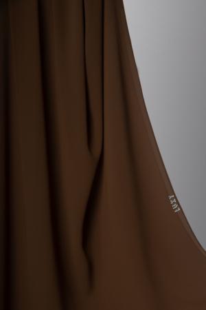 chiffon hijab in mocha