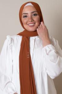 chiffon hijab in spice color