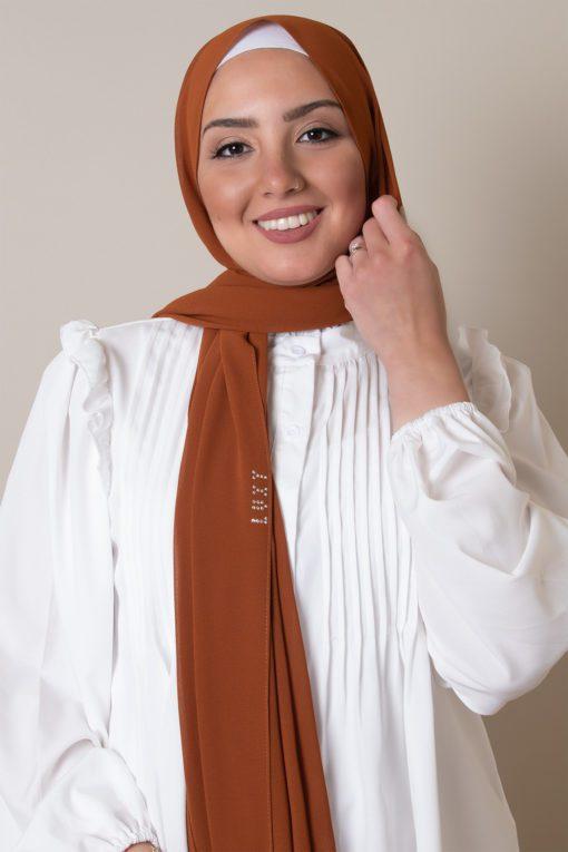chiffon hijab in spice