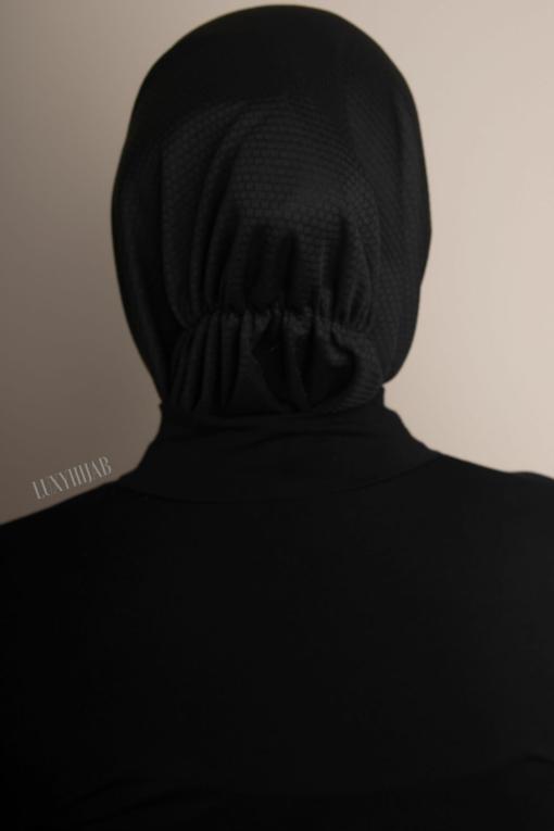 black sport hijab 3221
