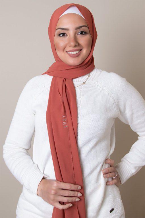chiffon hijab in squash