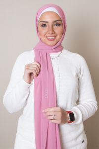 chiffon scarf in rose