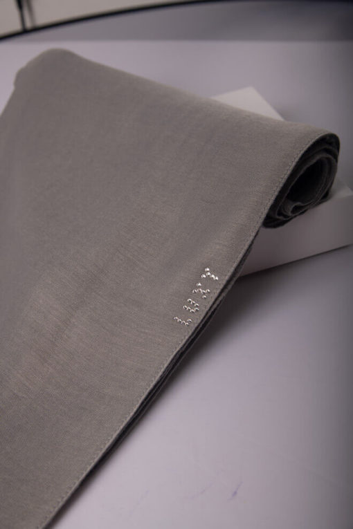cotton scarf in gray