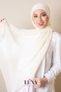 voile hijab in cream