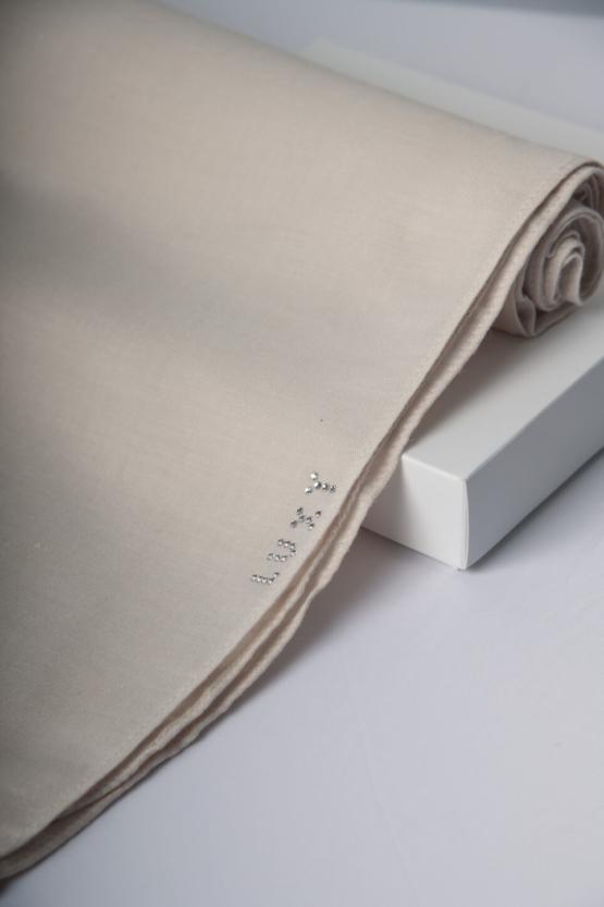 cotton scarf in cream color