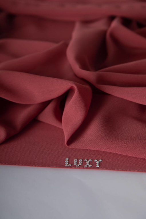 dark pink scarf