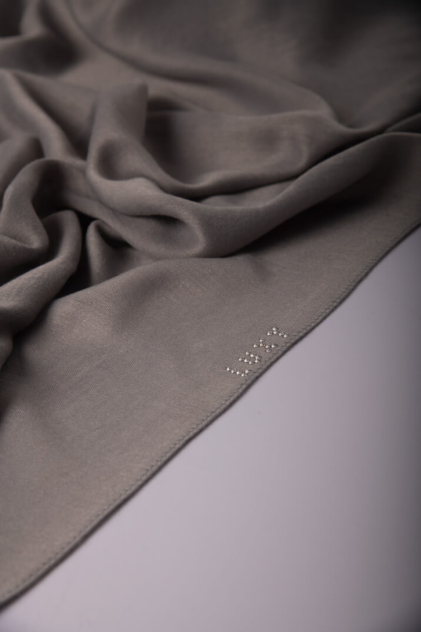 Premium Cotton Hijab in Gray