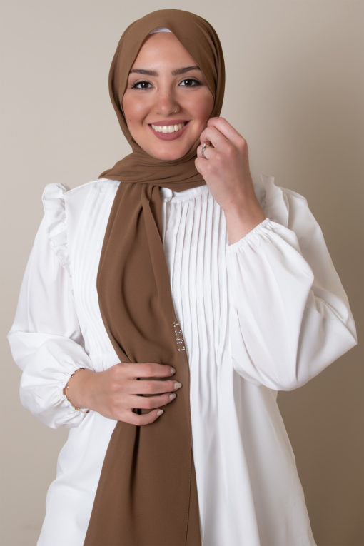 hijab in mocha color