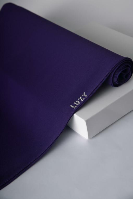 hijab in violet purple color