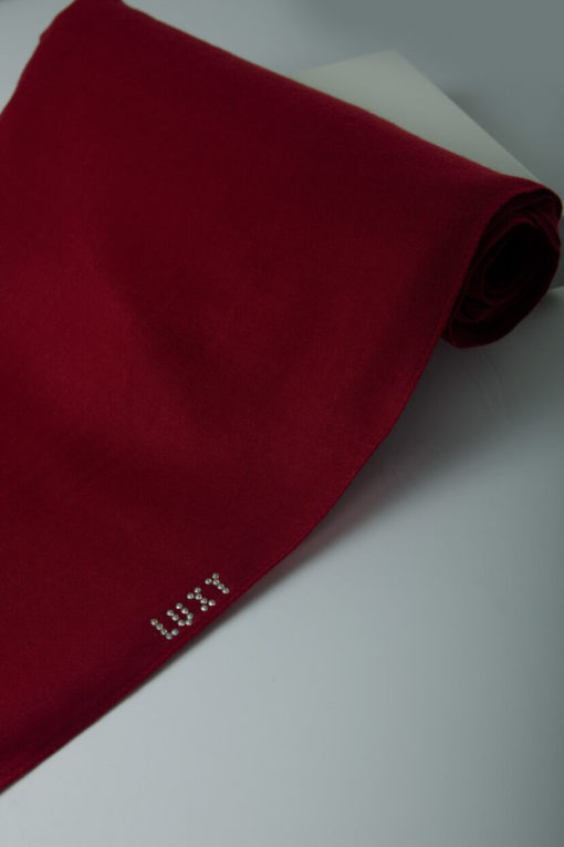 red cotton hijab