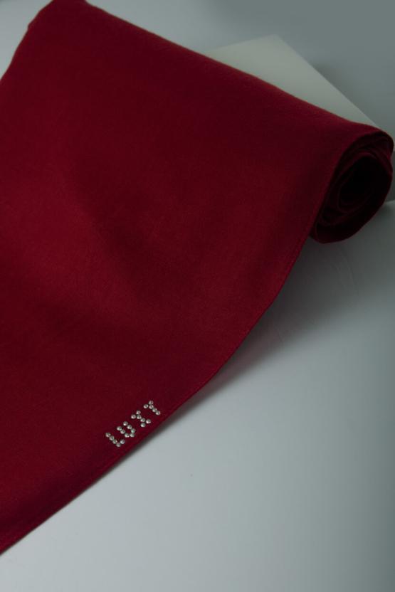 red cotton hijab