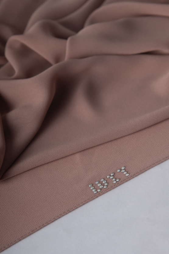 Chiffon Hijab in Rosy Brown