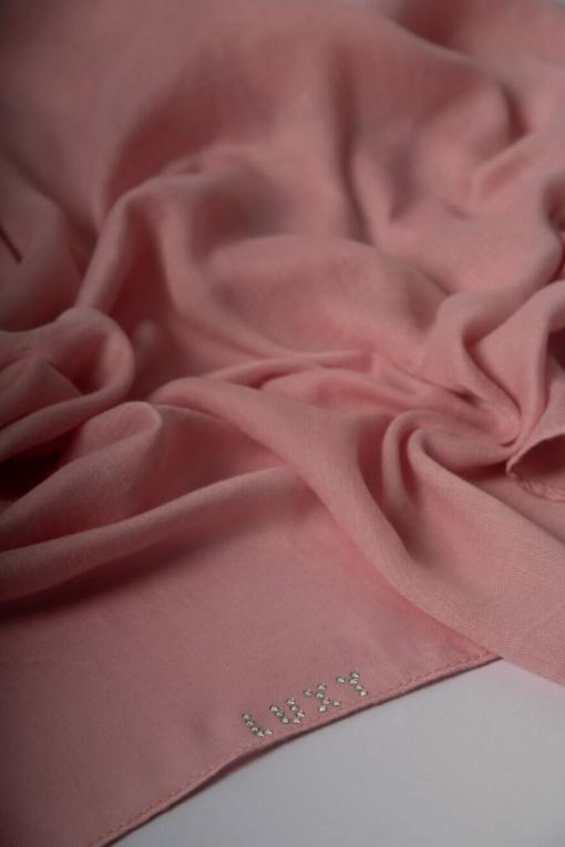 Premium Cotton Hijab in Flamingo