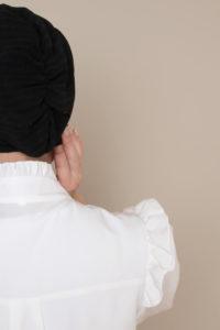 cap hijab in black