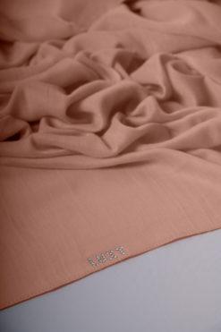 viscose hijab in salmon color