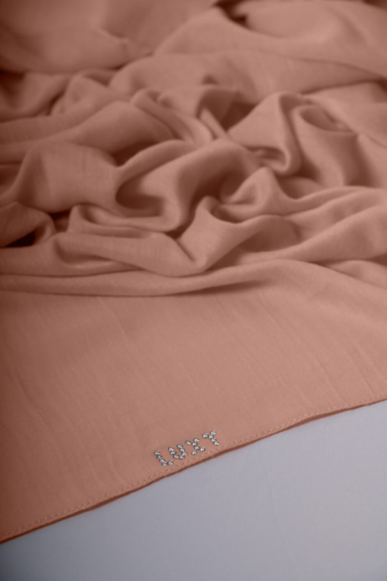 viscose hijab in salmon color