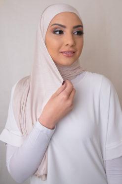 حجاب جيرسي باللون الباهت