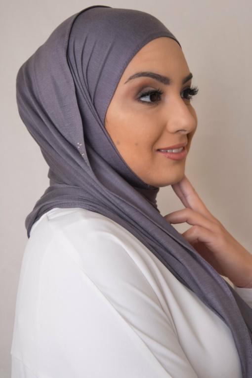 حجاب بلون الجرافيت