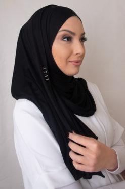 حجاب جيرسي اسود