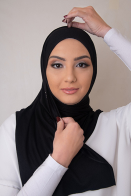 hijab in black