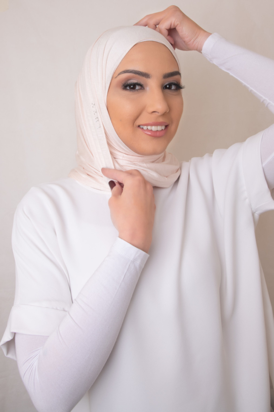 jersey hijab in heavenly pink