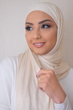 ivory jersey scarf