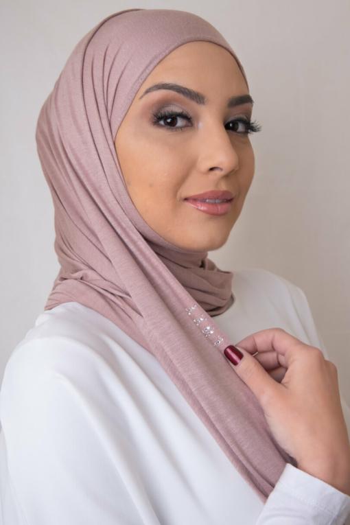 Premium Jersey Hijab in Apricot Nude