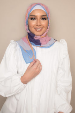 hijab in fruit punch color